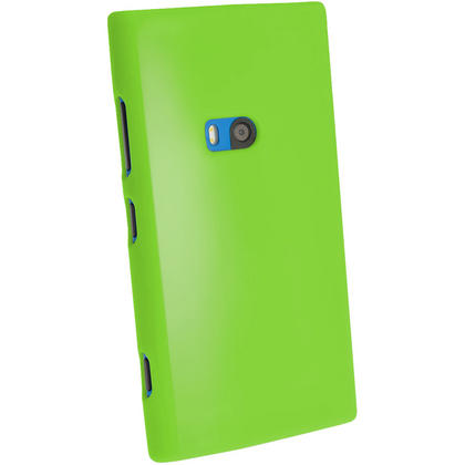 iGadgitz Green Glossy Gel Case for Nokia Lumia 920 + Screen Protector Thumbnail 3