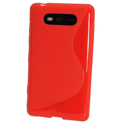 iGadgitz Dual Tone Red Gel Case for Nokia Lumia 820 + Screen Protector Thumbnail 3