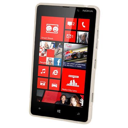 iGadgitz Dual Tone Clear Gel Case for Nokia Lumia 820 + Screen Protector Thumbnail 2