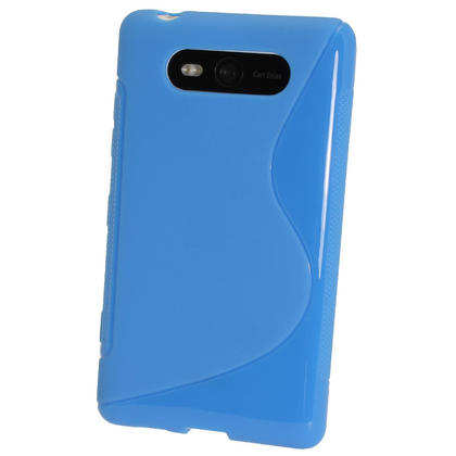 iGadgitz Dual Tone Blue Gel Case for Nokia Lumia 820 + Screen Protector Thumbnail 3