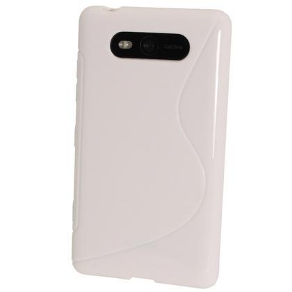 iGadgitz Dual Tone White Gel Case for Nokia Lumia 820 + Screen Protector Thumbnail 3