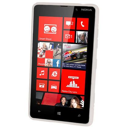 iGadgitz Dual Tone White Gel Case for Nokia Lumia 820 + Screen Protector Thumbnail 2