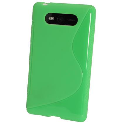 iGadgitz Dual Tone Green Gel Case for Nokia Lumia 820 + Screen Protector Thumbnail 3