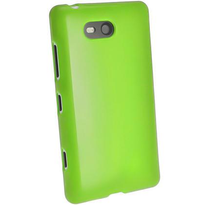 iGadgitz Green Glossy Gel Case for Nokia Lumia 820 + Screen Protector Thumbnail 3