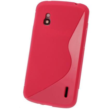 iGadgitz Dual Tone Red Gel Case for LG Google Nexus 4 E960 + Screen Protector Thumbnail 3