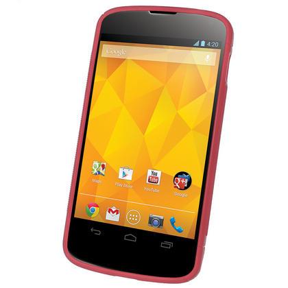 iGadgitz Dual Tone Red Gel Case for LG Google Nexus 4 E960 + Screen Protector Thumbnail 2