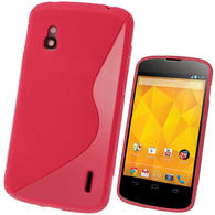 iGadgitz Dual Tone Red Gel Case for LG Google Nexus 4 E960 + Screen Protector