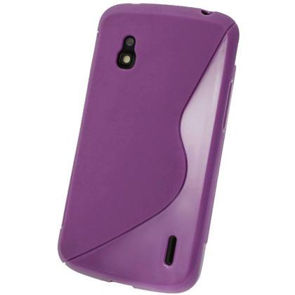 iGadgitz Dual Tone Purple Gel Case for LG Google Nexus 4 E960 + Screen Protector Thumbnail 3