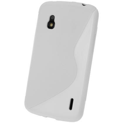 iGadgitz Dual Tone White Gel Case for LG Google Nexus 4 E960 + Screen Protector Thumbnail 3