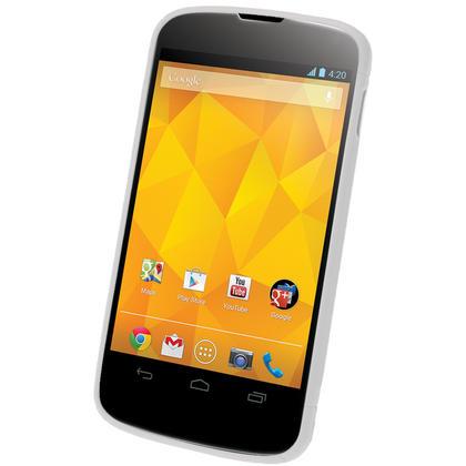 iGadgitz Dual Tone White Gel Case for LG Google Nexus 4 E960 + Screen Protector Thumbnail 2