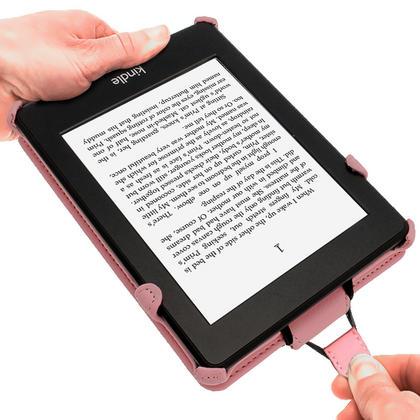iGadgitz Pink PU 'Heat Molded' Leather Case for Amazon Kindle Paperwhite 2015 2014 2013 2012 + Sleep/Wake & Hand Strap Thumbnail 4