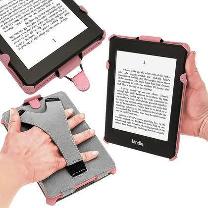 iGadgitz Pink PU 'Heat Molded' Leather Case for Amazon Kindle Paperwhite 2015 2014 2013 2012 + Sleep/Wake & Hand Strap Thumbnail 5