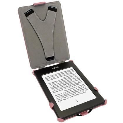iGadgitz Pink PU 'Heat Molded' Leather Case for Amazon Kindle Paperwhite 2015 2014 2013 2012 + Sleep/Wake & Hand Strap Thumbnail 3