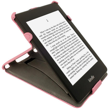 iGadgitz Pink PU 'Heat Molded' Leather Case for Amazon Kindle Paperwhite 2015 2014 2013 2012 + Sleep/Wake & Hand Strap Thumbnail 7