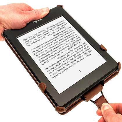 iGadgitz Brown PU 'Heat Molded' Leather Case for Amazon Kindle Paperwhite 2015 2014 2013 2012 + Sleep/Wake & Hand Strap Thumbnail 4