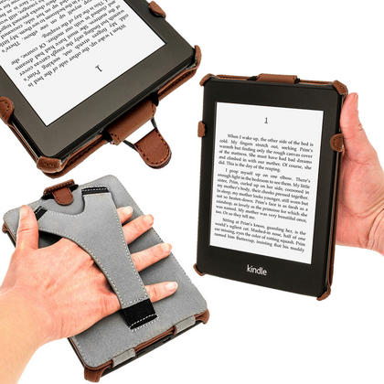 iGadgitz Brown PU 'Heat Molded' Leather Case for Amazon Kindle Paperwhite 2015 2014 2013 2012 + Sleep/Wake & Hand Strap Thumbnail 5