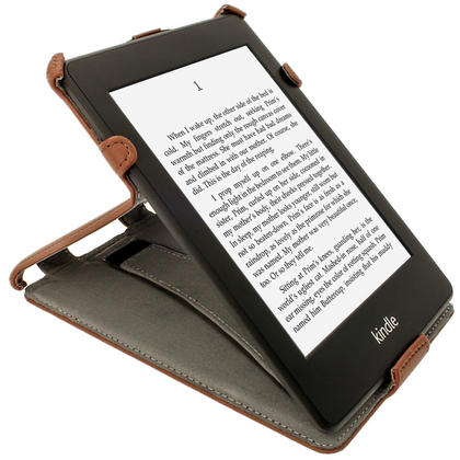 iGadgitz Brown PU 'Heat Molded' Leather Case for Amazon Kindle Paperwhite 2015 2014 2013 2012 + Sleep/Wake & Hand Strap Thumbnail 7