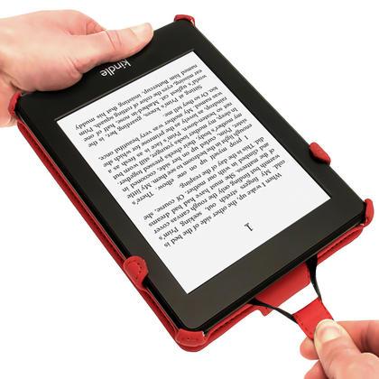 iGadgitz Red PU 'Heat Molded' Leather Case for Amazon Kindle Paperwhite 2015 2014 2013 2012 + Sleep/Wake & Hand Strap Thumbnail 4