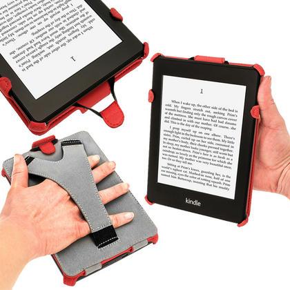iGadgitz Red PU 'Heat Molded' Leather Case for Amazon Kindle Paperwhite 2015 2014 2013 2012 + Sleep/Wake & Hand Strap Thumbnail 5