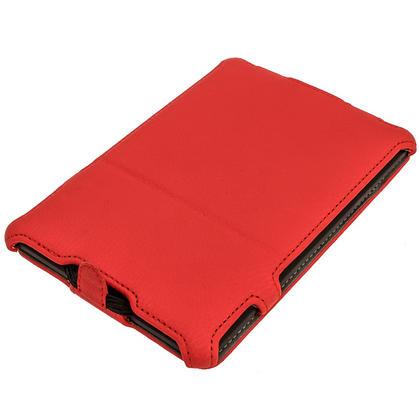 iGadgitz Red PU 'Heat Molded' Leather Case for Amazon Kindle Paperwhite 2015 2014 2013 2012 + Sleep/Wake & Hand Strap Thumbnail 2