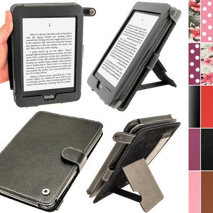 iGadgitz Black PU 'Bi-View' Leather Case for Amazon Kindle Paperwhite 2015 2014 2013 2012 With Sleep/Wake & Hand Strap Thumbnail 1