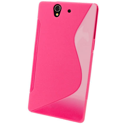 iGadgitz Dual Tone Pink Gel Case for Sony Xperia Z + Screen Protector Thumbnail 3