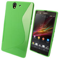 iGadgitz Dual Tone Green Gel Case for Sony Xperia Z + Screen Protector
