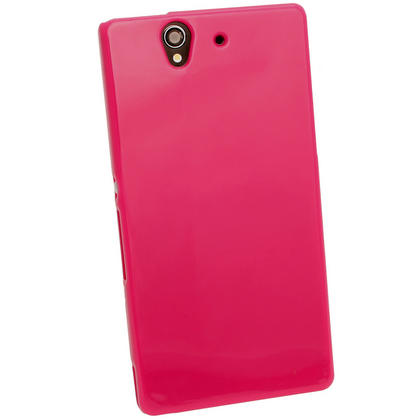 iGadgitz Pink Glossy Gel Case for Sony Xperia Z + Screen Protector Thumbnail 3