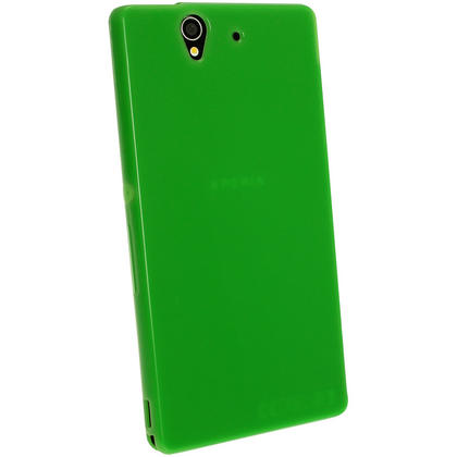 iGadgitz Green Glossy Gel Case for Sony Xperia Z + Screen Protector Thumbnail 3