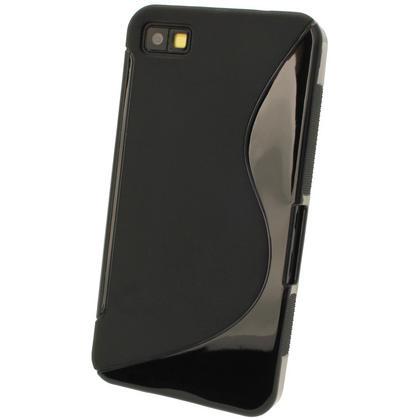 iGadgitz Dual Tone Black Gel Case for BlackBerry Z10 + Screen Protector Thumbnail 3