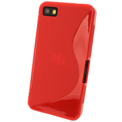 iGadgitz Dual Tone Red Gel Case for BlackBerry Z10 + Screen Protector Thumbnail 3