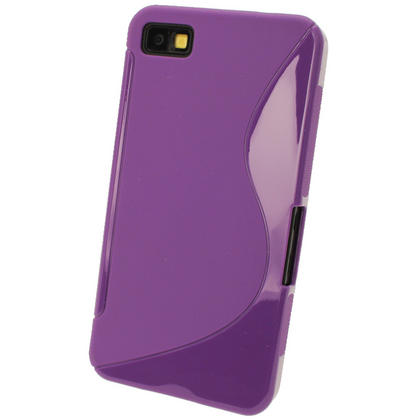 iGadgitz Dual Tone Purple Gel Case for BlackBerry Z10 + Screen Protector Thumbnail 3