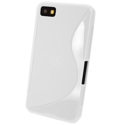 iGadgitz Dual Tone White Gel Case for BlackBerry Z10 + Screen Protector Thumbnail 3