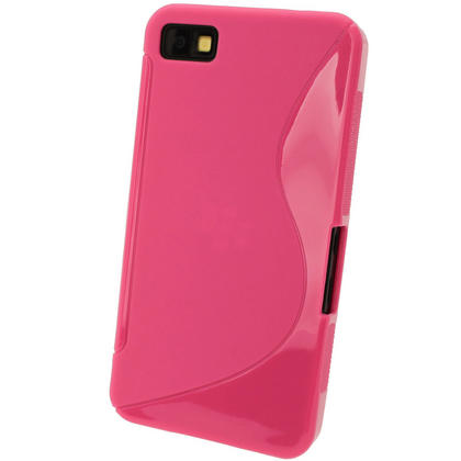 iGadgitz Dual Tone Pink Gel Case for BlackBerry Z10 + Screen Protector Thumbnail 3