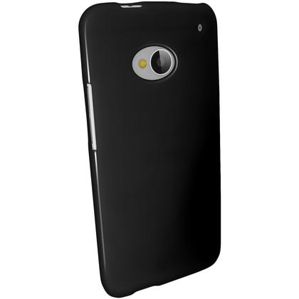 iGadgitz Black Glossy Gel Case for HTC One M7 + Screen Protector Thumbnail 5