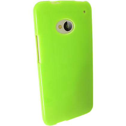 iGadgitz Green Glossy Gel Case for HTC One M7 + Screen Protector Thumbnail 5