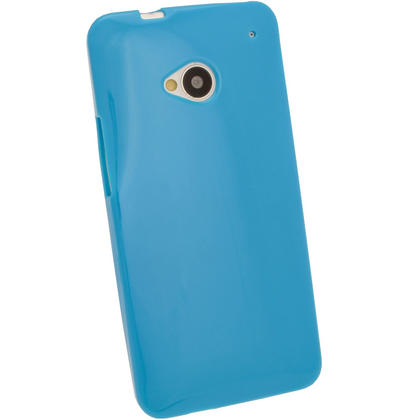 iGadgitz Blue Glossy Gel Case for HTC One M7 + Screen Protector Thumbnail 3