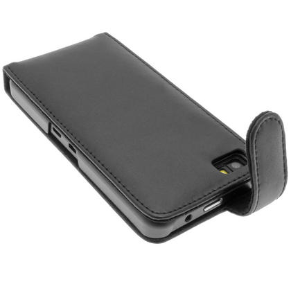 iGadgitz Black Leather Case Cover Holder for BlackBerry Z10 Smartphone Mobile Phone + Screen Protector Thumbnail 4