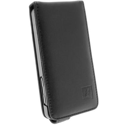 iGadgitz Black Leather Case Cover Holder for BlackBerry Z10 Smartphone Mobile Phone + Screen Protector Thumbnail 2