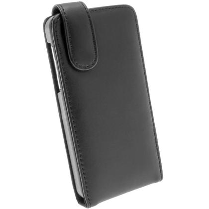 iGadgitz Black Leather Case Cover Holder for BlackBerry Z10 Smartphone Mobile Phone + Screen Protector Thumbnail 3