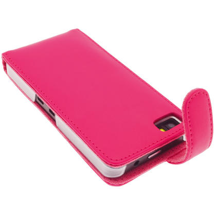 iGadgitz Pink Leather Case Cover Holder for BlackBerry Z10 Smartphone Mobile Phone + Screen Protector Thumbnail 4