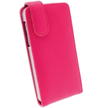iGadgitz Pink Leather Case Cover Holder for BlackBerry Z10 Smartphone Mobile Phone + Screen Protector Thumbnail 3
