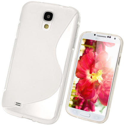 iGadgitz S Line Clear Gel Case for Samsung Galaxy S4 IV I9500 I9505 + Screen Protector Thumbnail 1