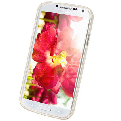 iGadgitz S Line Clear Gel Case for Samsung Galaxy S4 IV I9500 I9505 + Screen Protector Thumbnail 2