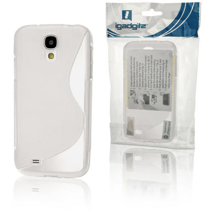 iGadgitz S Line Clear Gel Case for Samsung Galaxy S4 IV I9500 I9505 + Screen Protector Thumbnail 6