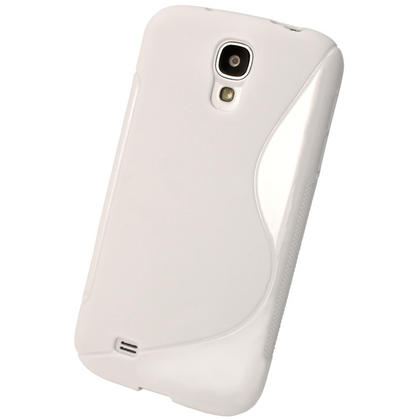 iGadgitz S Line White Gel Case for Samsung Galaxy S4 IV I9500 I9505 + Screen Protector Thumbnail 3