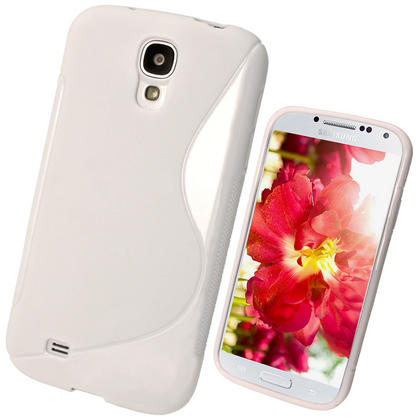 iGadgitz S Line White Gel Case for Samsung Galaxy S4 IV I9500 I9505 + Screen Protector Thumbnail 1