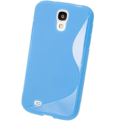 iGadgitz S Line Blue Gel Case for Samsung Galaxy S4 IV I9500 I9505 + Screen Protector Thumbnail 3