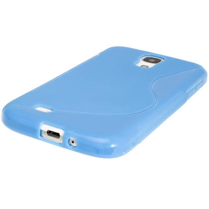 iGadgitz S Line Blue Gel Case for Samsung Galaxy S4 IV I9500 I9505 + Screen Protector Thumbnail 4