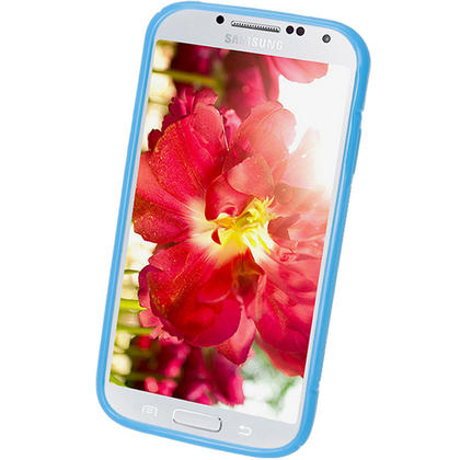 iGadgitz S Line Blue Gel Case for Samsung Galaxy S4 IV I9500 I9505 + Screen Protector Thumbnail 2